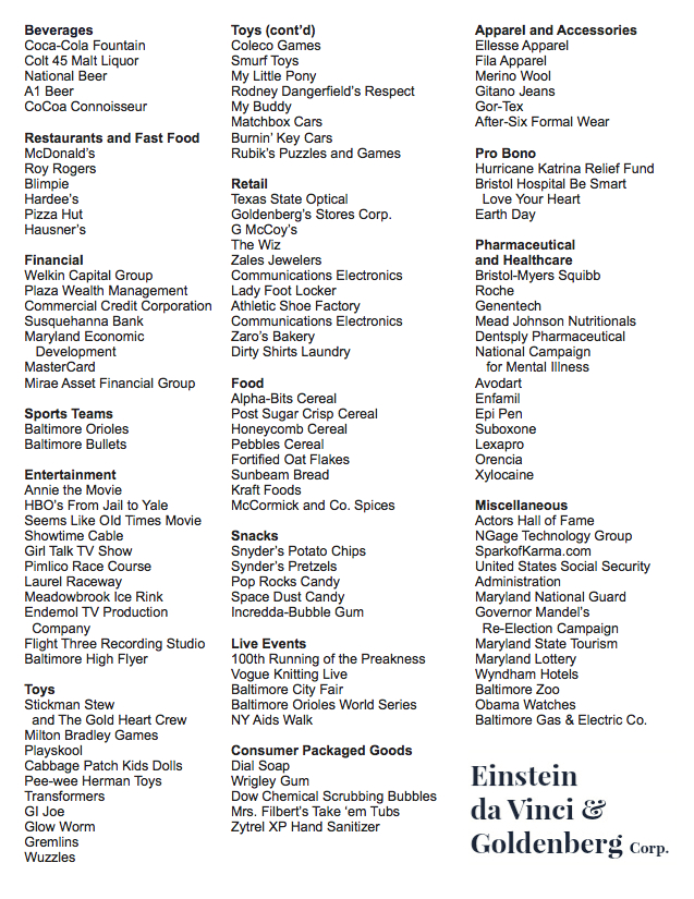 client listing ED&GCorp